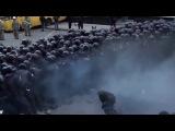 Противостояние Беркута и митингующих. Киев Майдан 01 12 2013